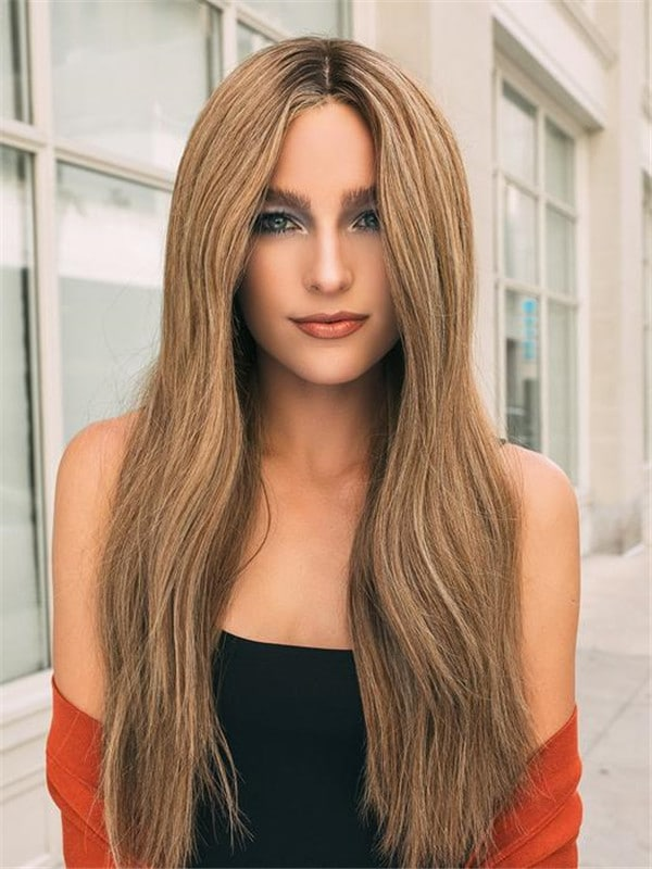 Blonde And Red Glamour And More Human Hair Lace Front Wig For Women