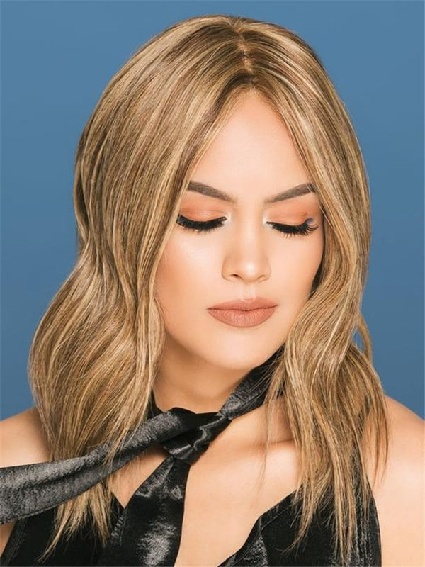 Red Remy Human Hair Lace Front Wig Hand-Tied