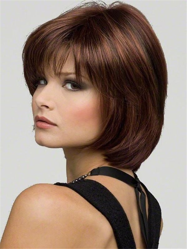 Red Haley Synthetic Wig Mono Top