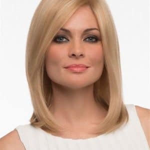 Blonde And Red Human Hair Lace Front Wig Monofilament