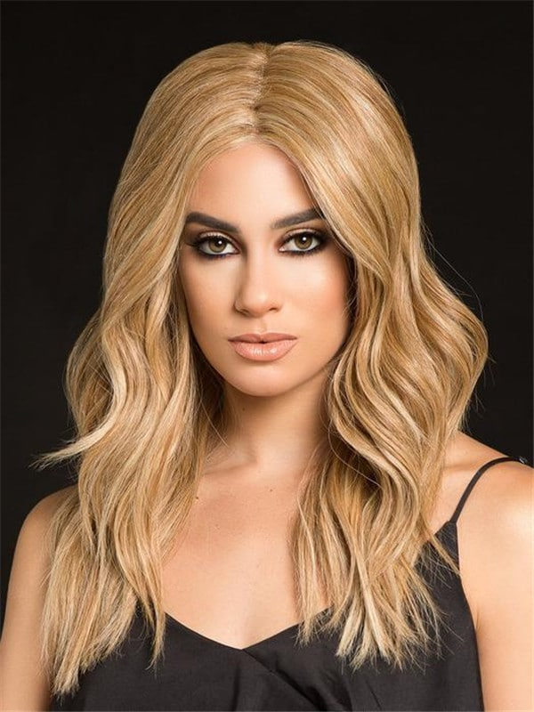 Red High Profile Lace Front Human Hair Wig Mono Top