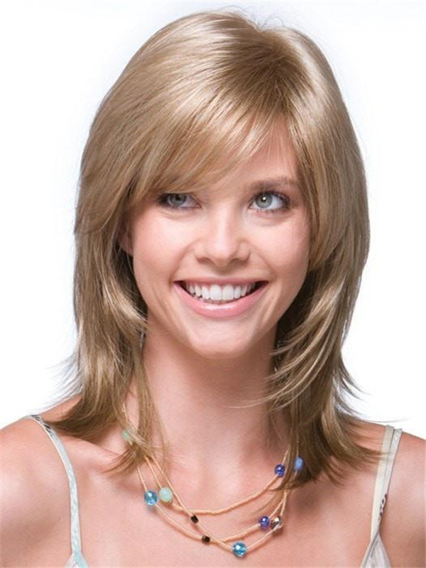 Blonde And Red Jade Synthetic Wig Basic Cap For Women