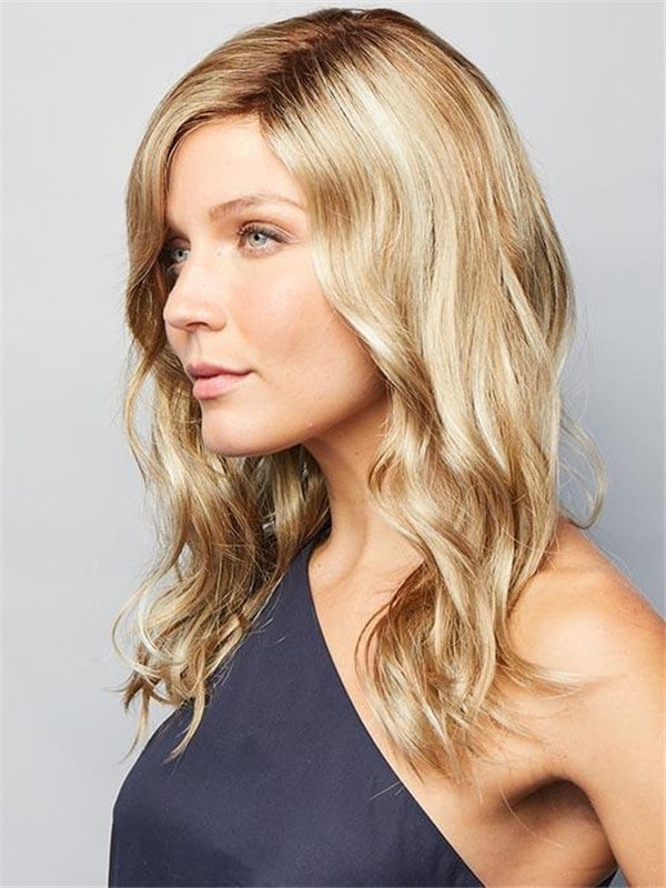 Blonde Jaden Synthetic Lace Front Wig Mono Part