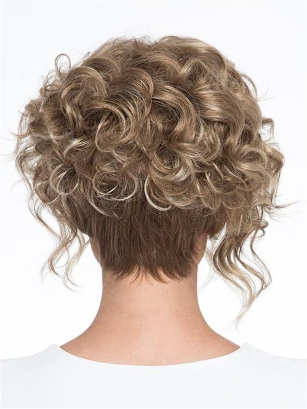 Blonde And Gray Synthetic Wig Basic Cap Curly