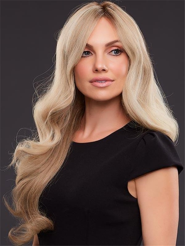 Red Brunette Remy Human Hair Lace Front Wig Hand-Tied