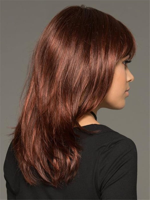 Red And Blonde Leyla Synthetic Wig Rooted For Women
