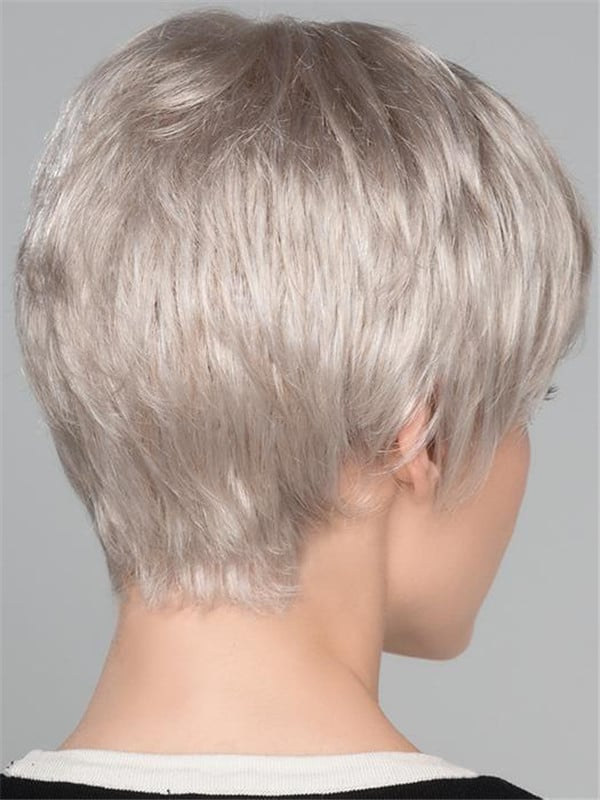 Blonde And Gray Light Mono Synthetic Wig For Women