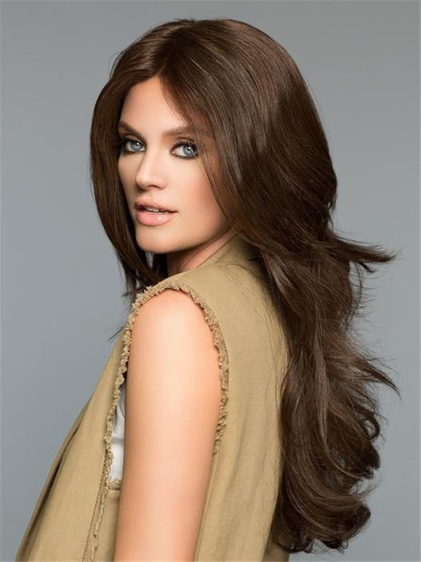 Blonde Liz B Human Hair Lace Front Wig Mono Top