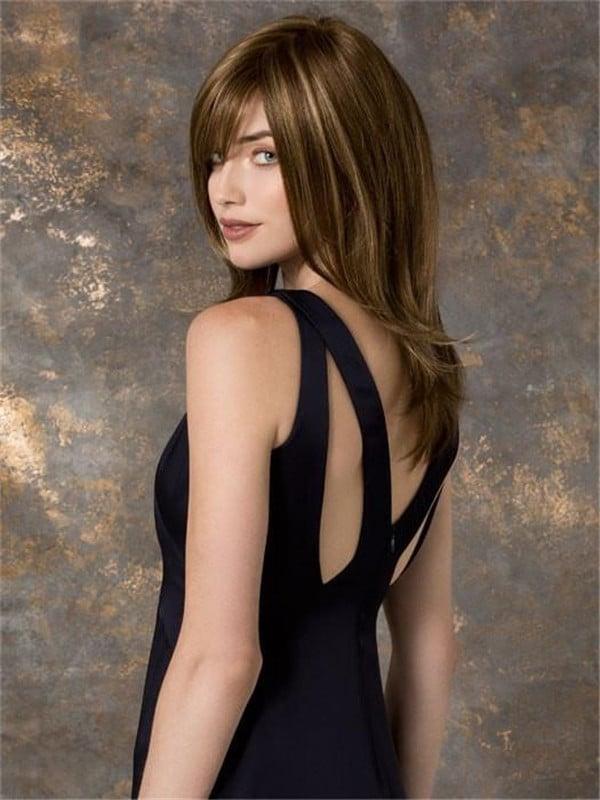 Blonde Marusha Mono Long Synthetic Wig Mono Top