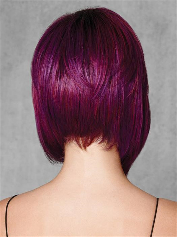 Mid-length Berry Synthetic Wig Basic Cap For Women