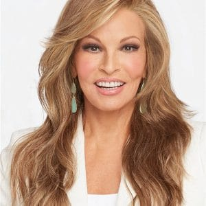 Blonde Layered Synthetic Lace Front Wig Mono Part