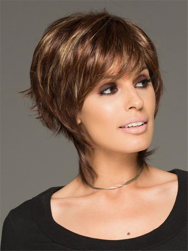 Gray And Blonde Millie Synthetic Wig Basic Cap For Women