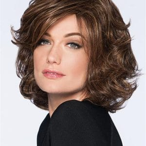 Gray and Black HF Synthetic Wig Basic Cap Wavy