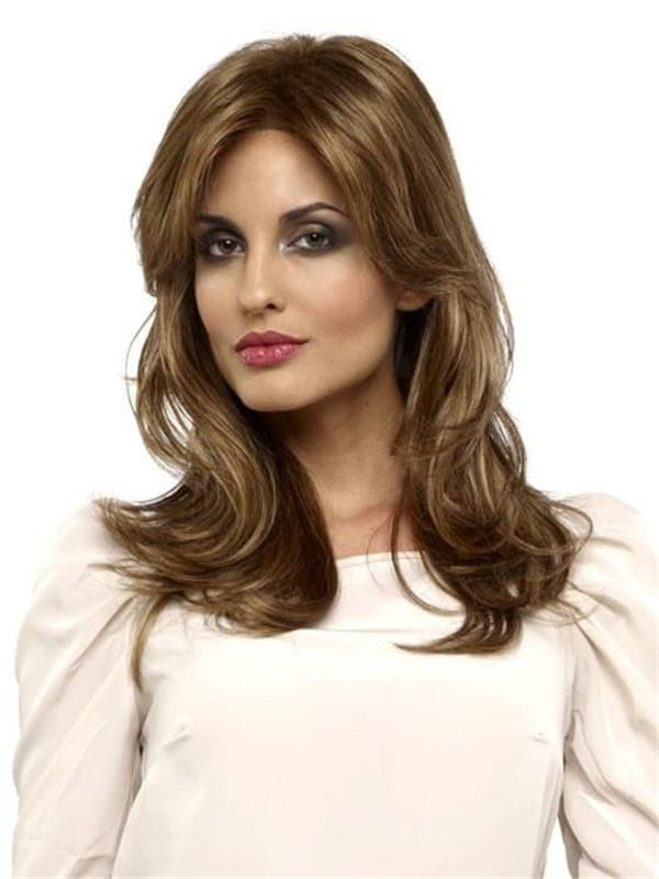 Blonde Synthetic Lace Front Wig Basic Cap