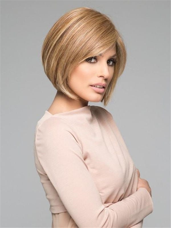 Blonde Human Hair Synthetic Blend Lace Front Wig