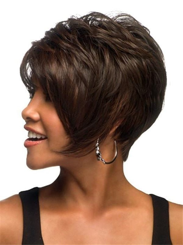 Red And Black Synthetic Wig Basic Cap For Women
