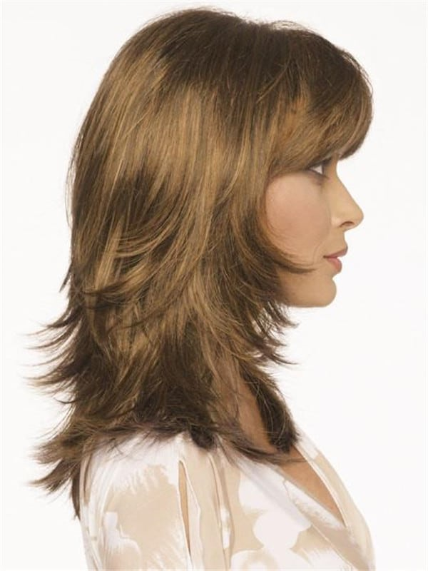 Red And Blonde Nadia Synthetic Wig Rooted For Women