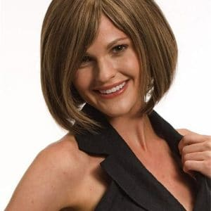 Black Paige Human Hair Wig Mono Top