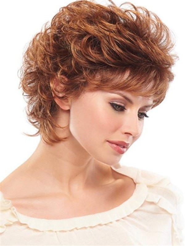 Red Peaches Synthetic Wig Basic Cap