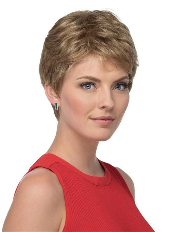 Black And Blonde Petite Coby Synthetic Wig Wavy Pixie