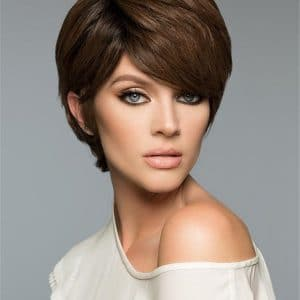 Red And Blonde Petite Remy Human Hair Wig Rooted For Women