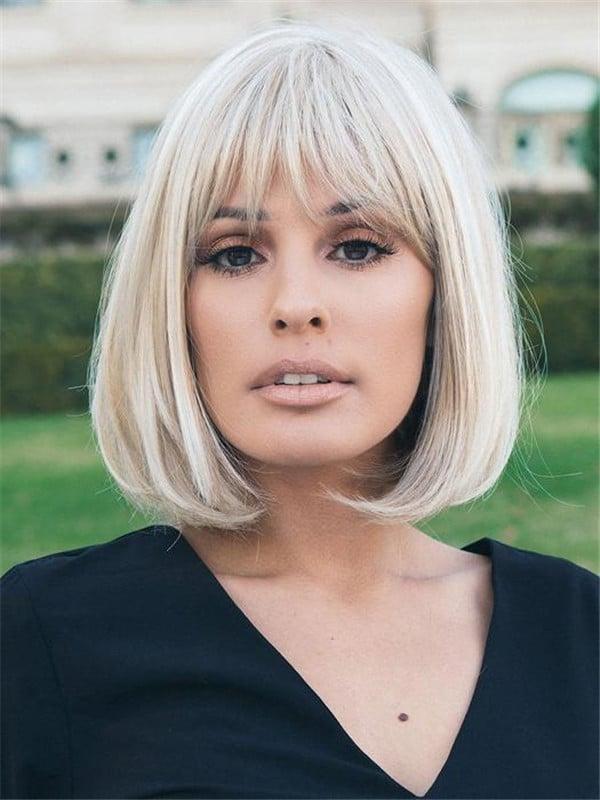 Blonde Paige Petite Synthetic Wig Mono Part