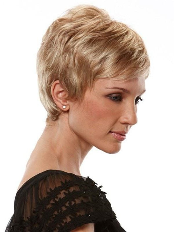 Blonde Pixie Synthetic Wig Basic Cap