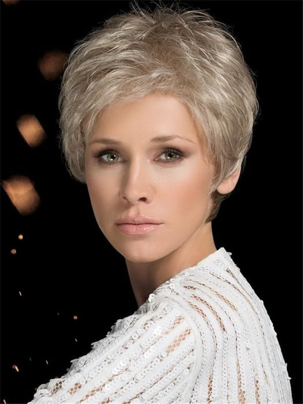 Blonde And Gray Synthetic Lace Front Wig Monofilament For Women