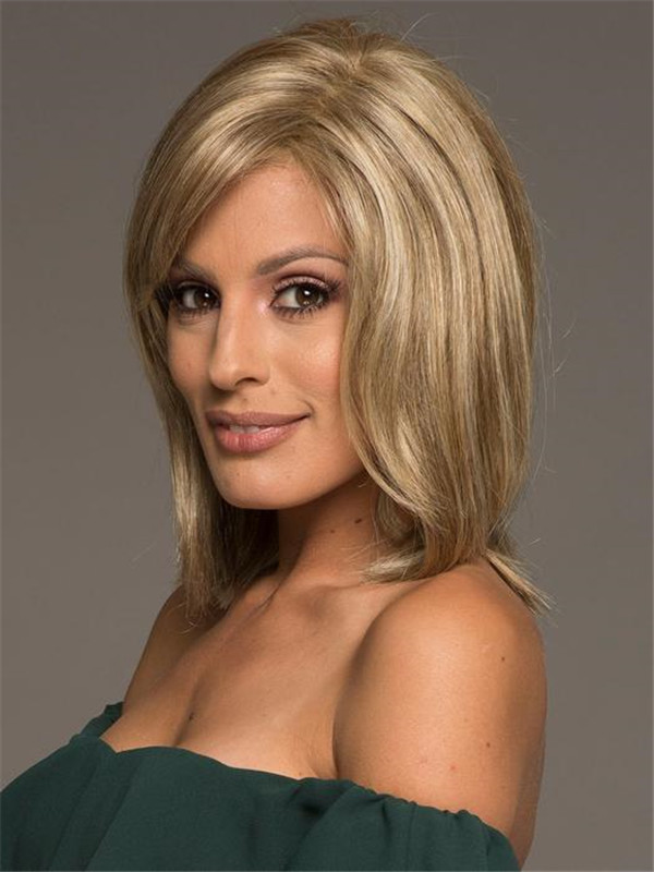 Red And Blonde Premium Synthetic Wig Lace Front For Women