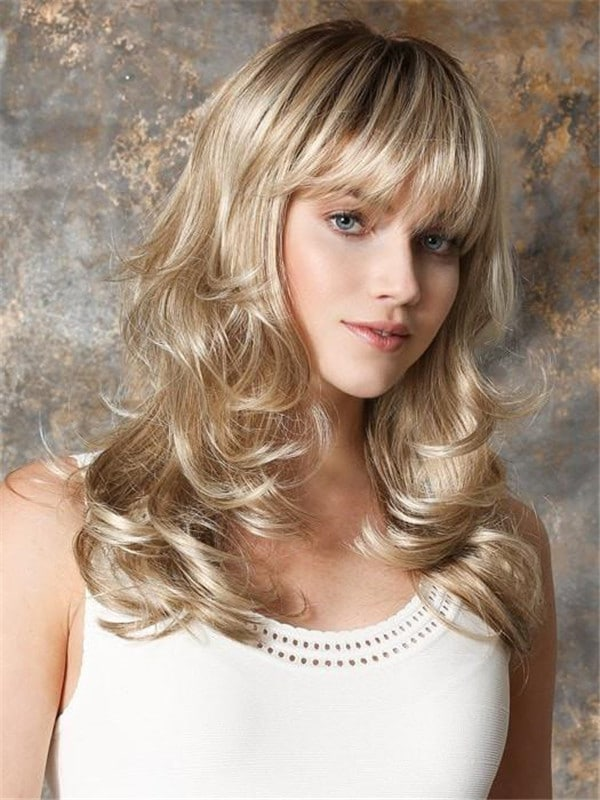 Rooted Pretty Synthetic Wig Wavy For Women