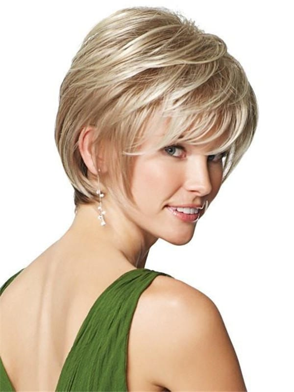 Blonde Synthetic Lace Front Wig Mono Top