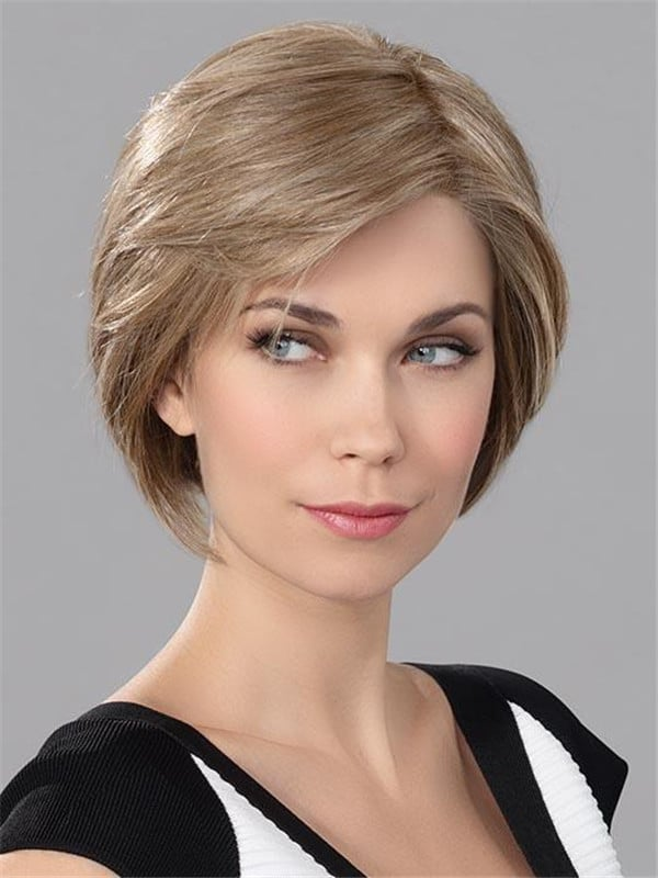 Blonde Human Synthetic Hair Blend Lace Front Wig For Women