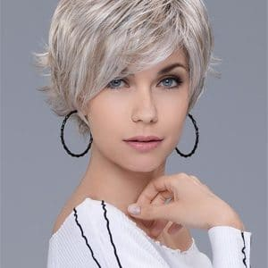 Gray Raise Synthetic Lace Front Wig