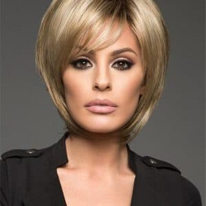 Blonde And Gray Synthetic Wig Basic Cap Layered For Women
