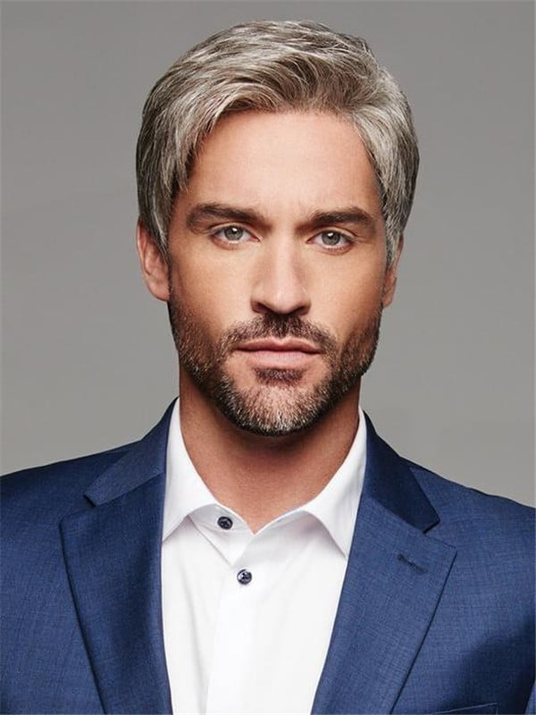 Short Straight Synthetic Lace Front Wig For Men