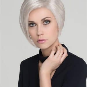 Blonde And Gray Synthetic Lace Front Wig Layered For Women