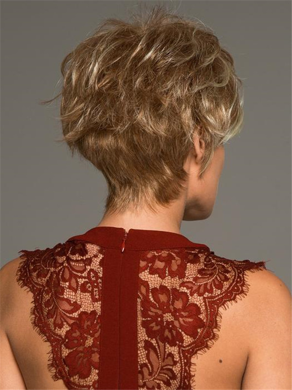 Blonde And Red Roni Synthetic Wig Basic Cap For Women
