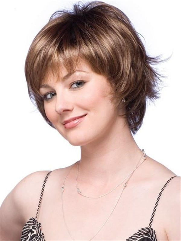 Red Ryan Synthetic Wig Mono Top