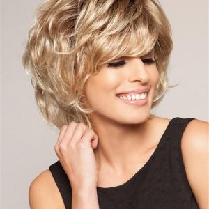 Blonde And Gray Salsa Synthetic Wig Basic Cap For Women