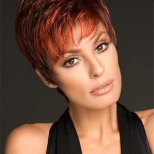 Red Scape Short Synthetic Wig Pixie For Women