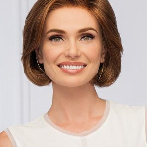 Gray And Red Sheer Style Synthetic Lace Front Wig For Women