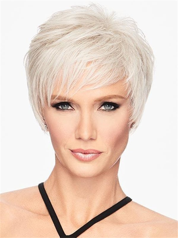 Black Short Shag Hf Synthetic Wig Basic Cap