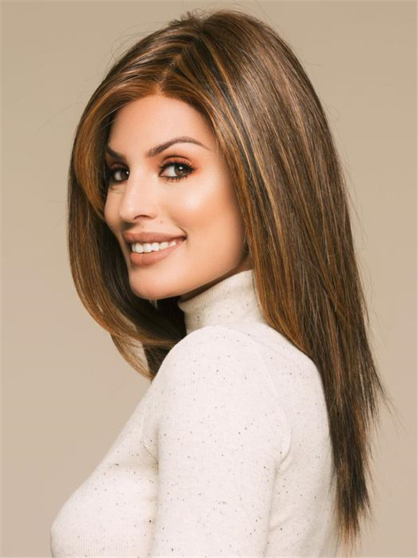 Blonde And Red Show Stopper Synthetic Lace Front Wig For Women