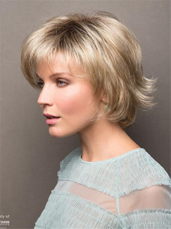 Rooted Synthetic Wig Basic Cap for Women