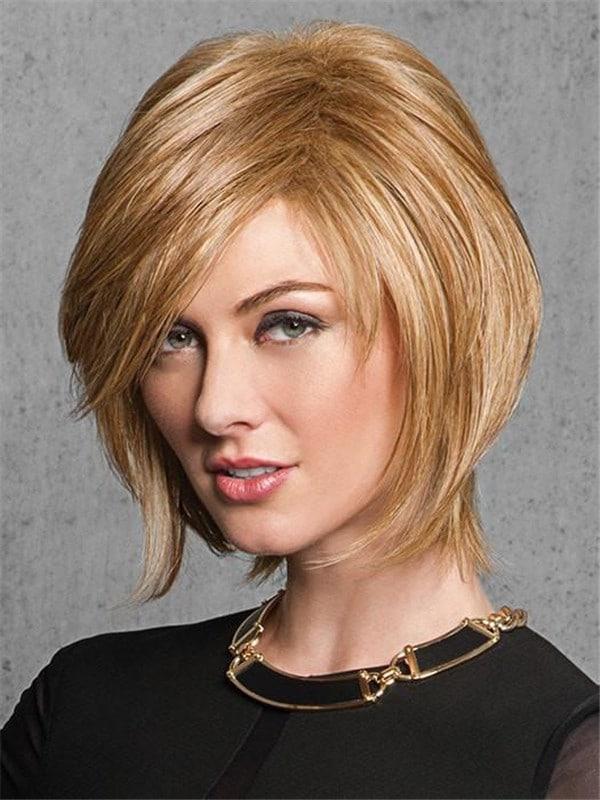 Gray Sleek Chic HF Synthetic Wig Basic Cap