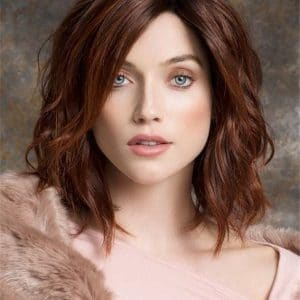 Black And Blonde Human Hair Synthetic Blend Lace Front Wig Rooted For Women