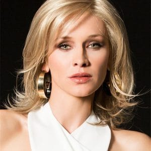 Blonde Splendid Synthetic Lace Front Wig Hand-Tied