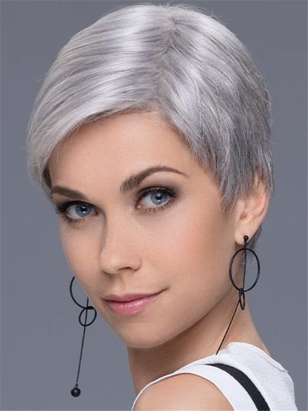 Blonde And Gray Synthetic Lace Front Wig For Women