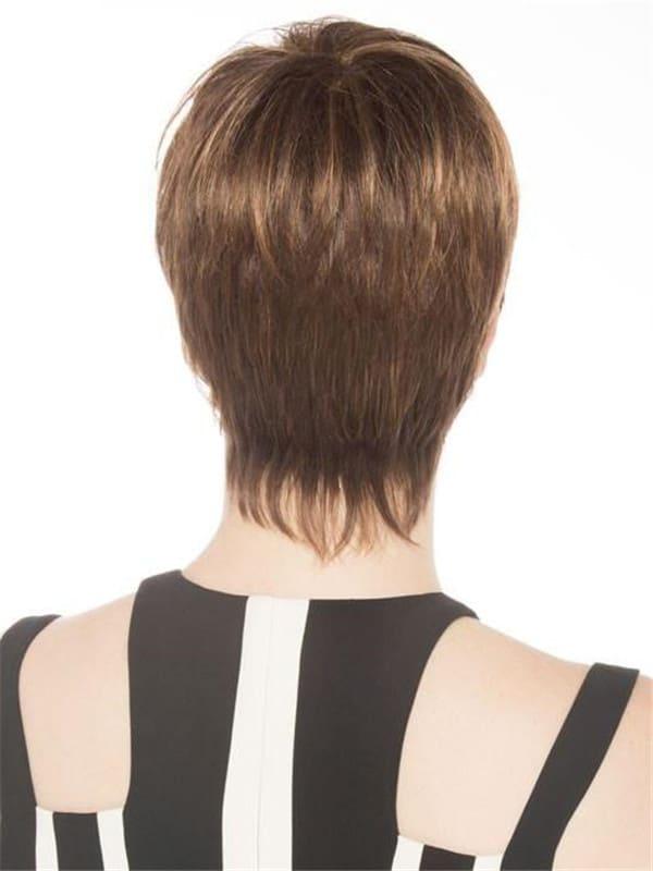 Red Stop Hi Tec Short Synthetic Wig Mono Crown