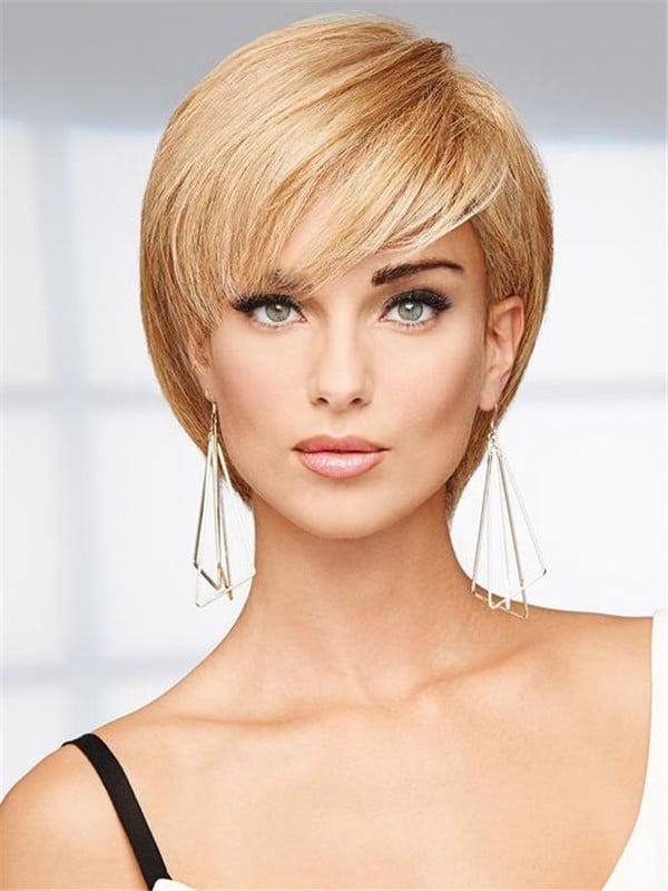 Black 100% Human Hair Wig Mono Top